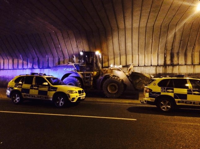 Police finally managed to bring the chase to the end (Picture: Leicester Police)