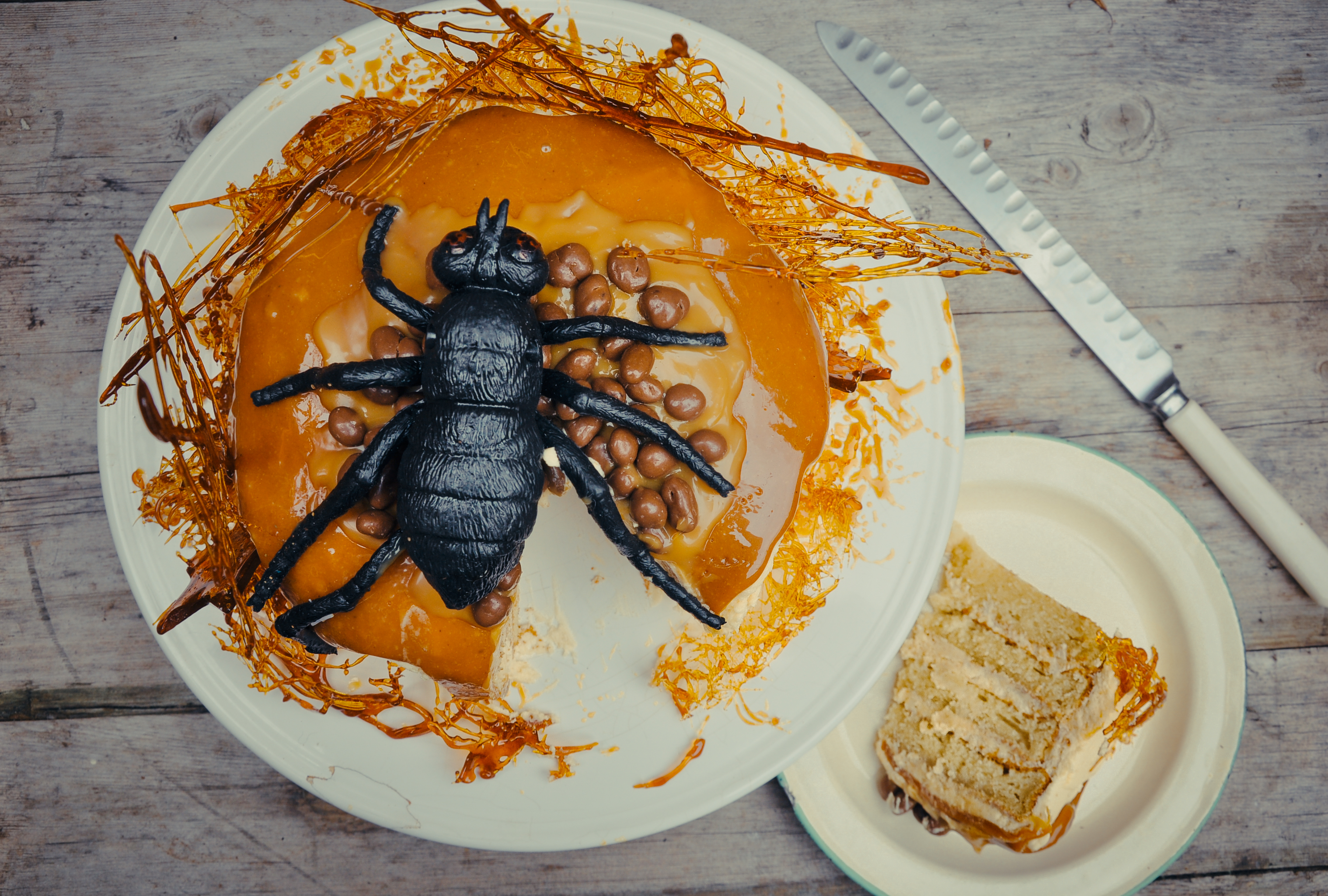Great British Bake Off recipe: Oozing salted caramel spider cake