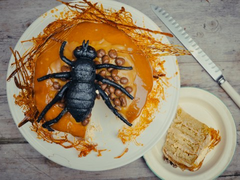 Great British Bake Off recipe: Oozing salted caramel spider cake