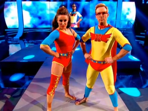 H from Steps' superhero costume was our favourite thing about the Tumble final