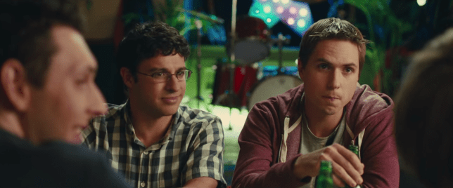Inbetweeners as students (Picture: YouTube)