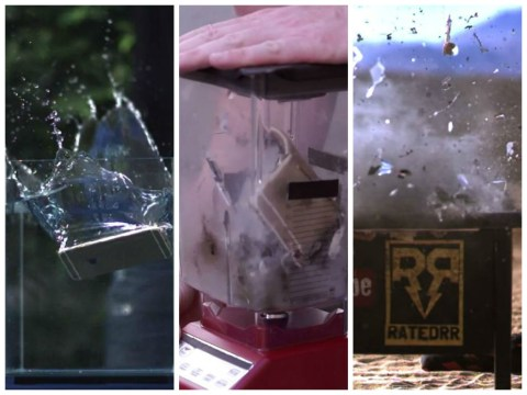 iPhone 6 Plus vs water, a blender and a gun