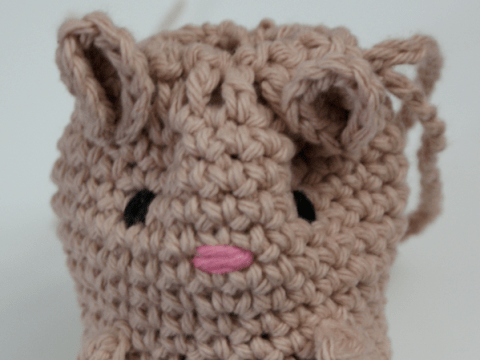 Why not knit your Mooncup an adorable holster?