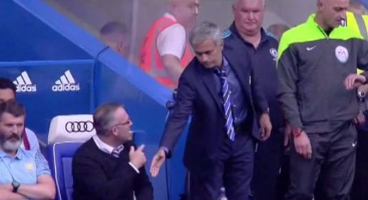 Jose Mourinho's handshake snubbed by Paul Lambert and Roy Keane during Chelsea's clash against Aston Villa