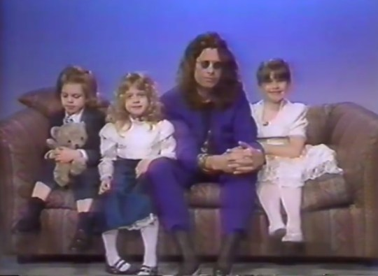 Ozzy, Kelly, Jack and Amy appeared on Joan Rivers' show back in 1991 (Picture: YouTube)