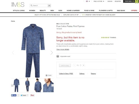 Has Tory sleaze made paisley pyjamas sexy? Marks & Spencer sells out after Brooks Newmark scandal