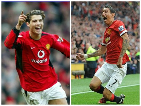 Angel di Maria's debut Manchester United goal is spookily similar to Cristiano Ronaldo's first
