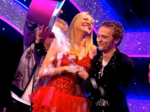 Celebrity Juice: Keith Lemon does his own version of the ice bucket challenge with Strictly Come Dancing host Tess Daly