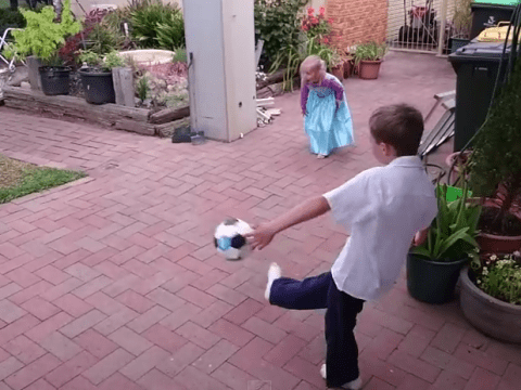 Watch what happened when this man asked his kids to help him test his slow-motion camera