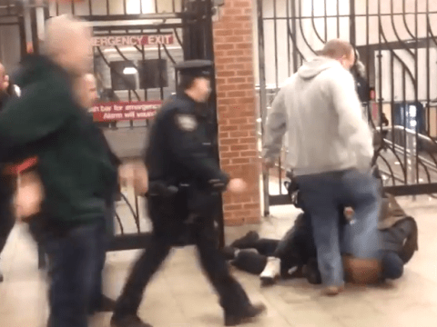 Cop fail: NYPD officer kicks colleague in the head thinking he's the suspect