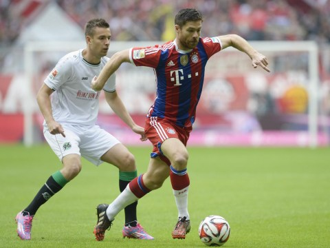 Xabi Alonso forces Hannover goalkeeper into save with incredible shot from Bayern Munich half
