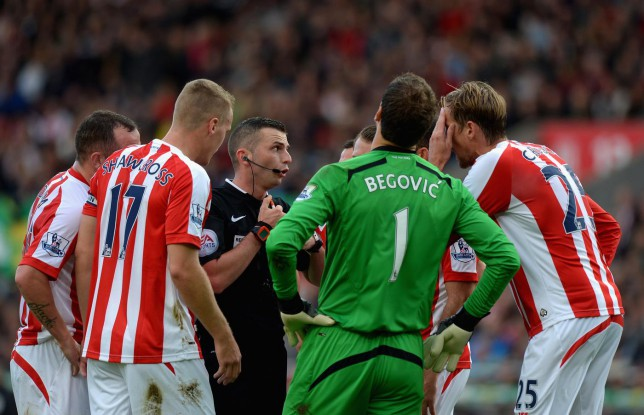How an abysmal refereeing display overshadowed Stoke City's win over Swansea