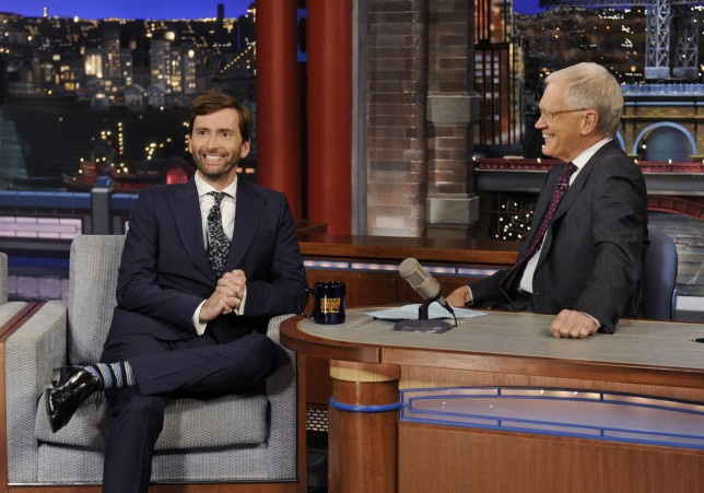 "David Tennant on the ""Late Show with David Letterman"" (AP Photo/CBS, Jeffrey R. Staab)"