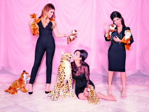 The Kardashians model their latest Kollection as Kim says her style is 'sexier' since becoming a mum