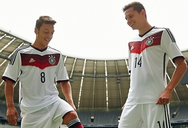 Mesut Oezil And Julian Draxler Presenting New German National Team Kit