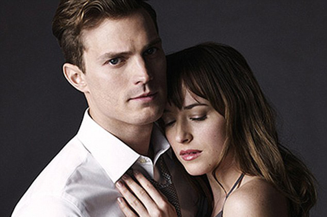 Fifty Shades Of Grey movie poster with Jamie Dornan and Dakota Johnson