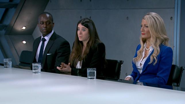 The Apprentice 2014 Steven Ugoalah, Ella Jade Bitton, Sarah Dales (Picture: BBC)