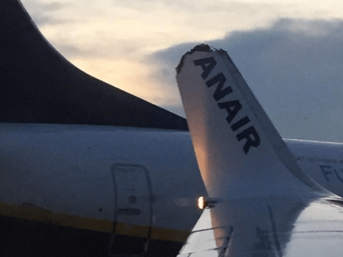 Ryanair plane loses part of its wing after being hit by another Ryanair plane at Dublin Airport