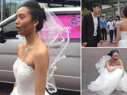 Bride makes herself look 50 years older to see if groom will still love her