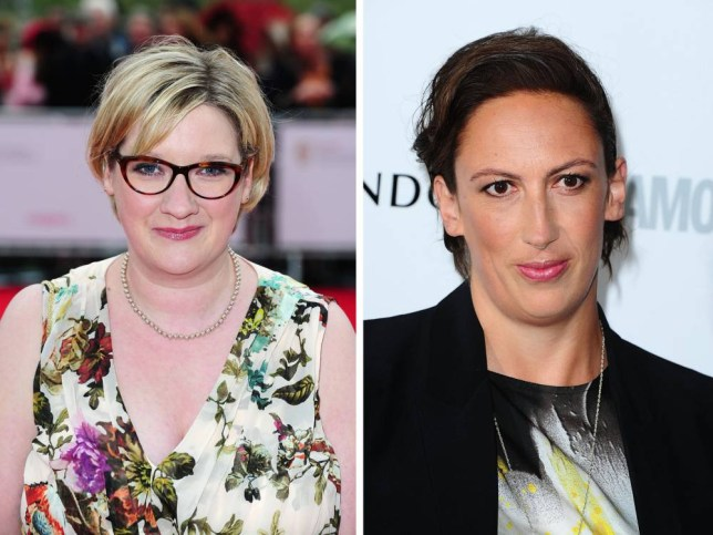 File photos of Sarah Millican (left) and Miranda Hart as there has been a boom in ticket sales for female comics, according to an industry survey. PRESS ASSOCIATION Photo. Issue date: Wednesday October 1, 2014. Shows by female comedians account for 14% of all comedy tickets sold, up from 2% in 2009 according to a report by the Ticketmaster agency. See PA story SHOWBIZ Theatre. Photo credit should read: Ian West/PA Wire