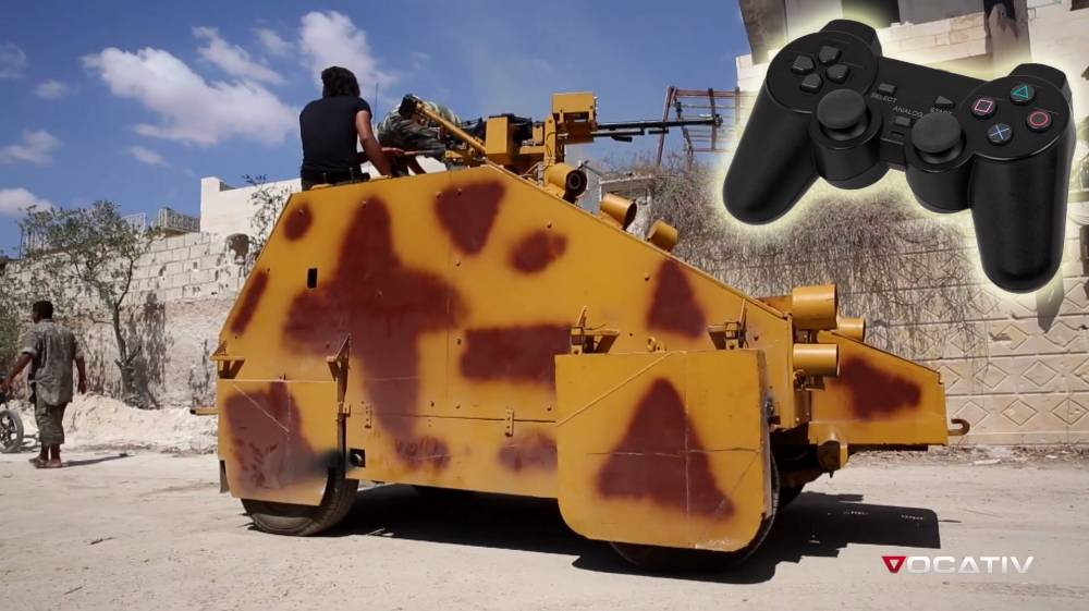 Syrian rebels fight Isis in a PlayStation-controlled homemade tank