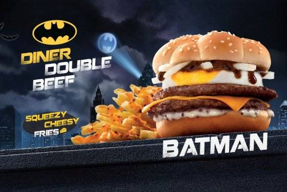 McDonald's in Hong Kong is releasing a range of superhero burgers and it's the Batman burger up first