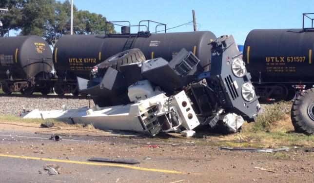 Train crash, Mer Rouge, Louisiana
