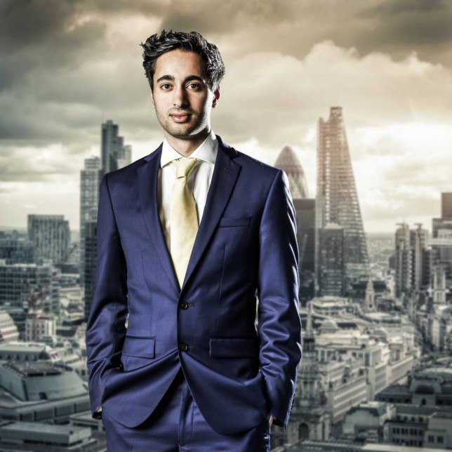 EMBARGOED TO 0001 TUESDAY OCTOBER 7 For use in UK, Ireland or Benelux countries only. BBC undated handout photo of Solomon Akhtar, one of this year's candidates for the BBC programme, The Apprentice. PRESS ASSOCIATION Photo. Issue date date: Tuesday October 7, 2014. See PA story SHOWBIZ Apprentice Series. Photo credit should read: Jim Marks/BBC/PA Wire NOTE TO EDITORS: Not for use more than 21 days after issue. You may use this picture without charge only for the purpose of publicising or reporting on current BBC programming, personnel or other BBC output or activity within 21 days of issue. Any use after that time MUST be cleared through BBC Picture Publicity. Please credit the image to the BBC and any named photographer or independent programme maker, as described in the caption.