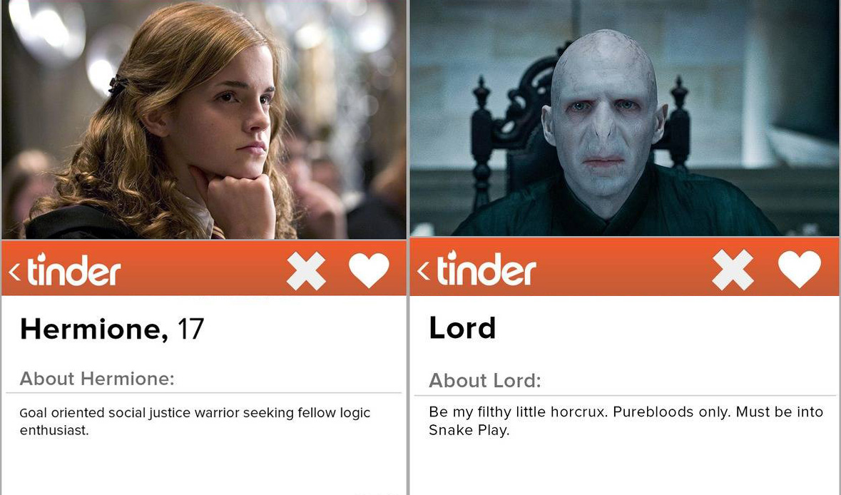 Harry Potter characters on Tinder is the most upsetting thing you'll see all day