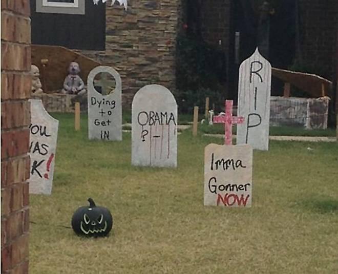 Someone thinks their neighbour has taken Halloween too far
