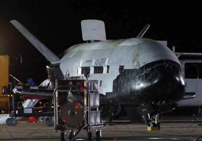 "(FILES) This picture provided by the US Air Force shows the X-37B, the Air Force's first unmanned re-entry spacecraft, after landing on December 3, 2010 at Vandenberg Air Force Base in California.The X-37B is expected to land at Vandenberg Air Force Base in California, the Air Force said. The base did not give an exact time for the landing, but a notice to aviators and mariners on the Federal Aviation Administration's website said airspace around the Southern California base would be closed from 8 am to 5 pm PST October 14, 2014.  AFP PHOTO/US AIR FORCE/FILES == RESTRICTED TO EDITORIAL USE / MANDATORY CREDIT: ""AFP PHOTO / HANDOUT / US Air Force ""/ NO MARKETING / NO ADVERTISING CAMPAIGNS / NO A LA CARTE SALES / DISTRIBUTED AS A SERVICE TO CLIENTS ==Handout/AFP/Getty Images"