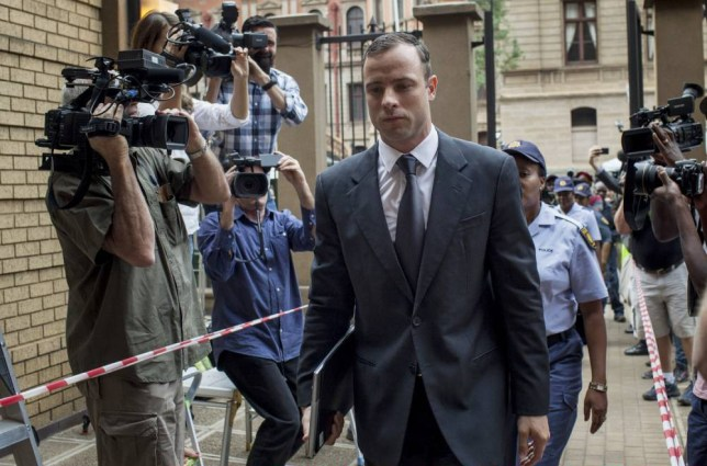 PRETORIA, SOUTH AFRICA - OCTOBER 15: ¿Oscar Pistorius arrives at¿North Gauteng High Court on October 15, 2014 in Pretoria, South Africa. Pistorius will be sentenced having been found guilty of the culpable homicide of his girlfriend Reeva Steenkamp after mistaking her for an intruder. ¿(Photo by Charlie Shoemaker/Getty Images)