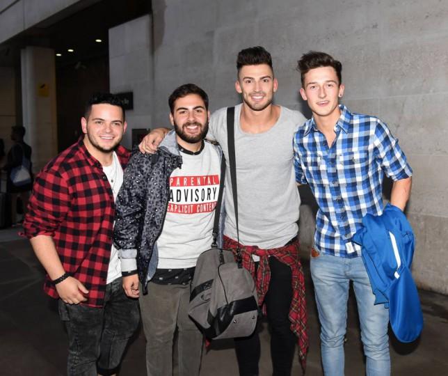 Paul Akister, Andrea Faustini, Jake Quickenden, Jack Walton - The X Factor 2014 Picture: Xposurephotos.com)