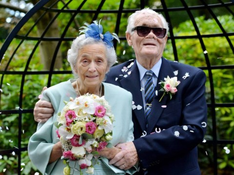 Whirlwind romance for 89-year-old couple as they finally tie the knot