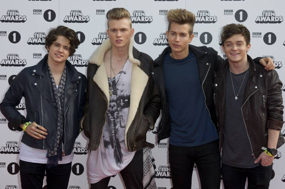 The Vamps arrive for the BBC Radio 1's Teen Awards, Wembley Arena, London. PRESS ASSOCIATION Photo. Picture date: Sunday October 19, 2014. See PA story Photo credit should read: Laura Lean/PA Wire