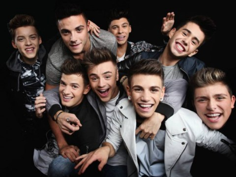 X Factor 2014 live shows: Watch the moment Stereo Kicks get stage-bombed by Lee Nelson