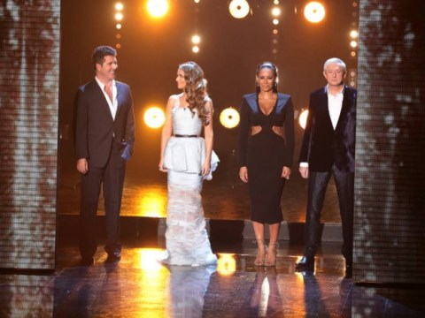 X Factor 2014 results show: Cheryl Cole and Simon Cowell tickle and make up