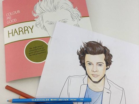 One Direction colouring book klaxon: Want to draw tattoos on Harry Styles?