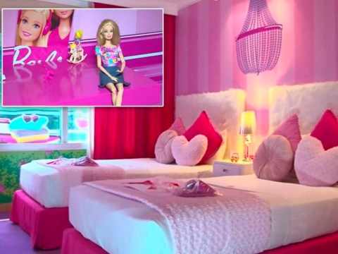 Come on, who wants to go party in the world's first Barbie-themed hotel room?