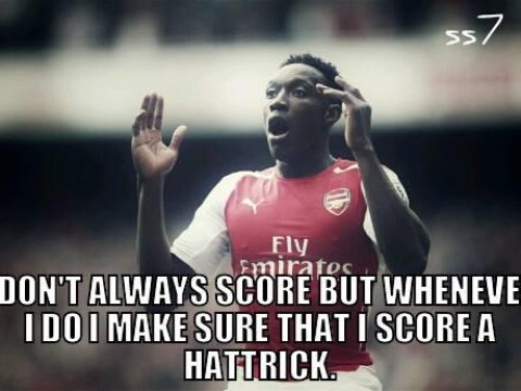Arsenal fans troll Manchester United with memes after Danny Welbeck hat-trick