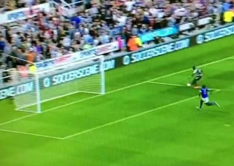Newcastle striker Papiss Cisse has won miss of the season already with this effort