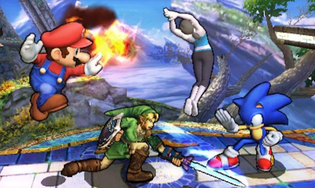 Super Smash Bros. For Nintendo 3DS (3DS) - Mario vs. Link vs. Sonic vs. Wii Fit Trainer