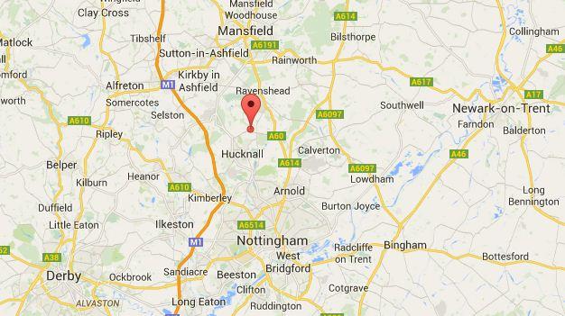 The quake struck in Hucknall, Nottinghamshire (Picture: Google Maps)