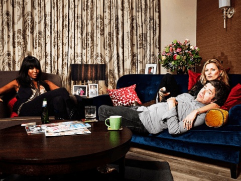 Stand Up To Cancer: Naomi Campbell, Kate Moss and Noel Gallagher take it easy in new Gogglebox photo