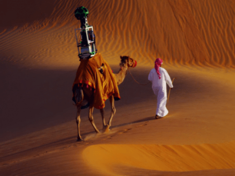 Say hello to Google Camel View: Streetview goes to the Abu Dhabi desert