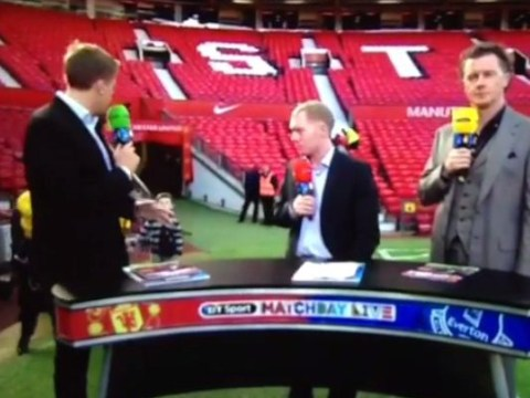 Kai Rooney gatecrashes BT Sport's coverage of Manchester United's win over Everton
