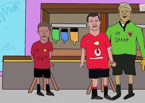 How Roy Keane *may* have come to headbutt Peter Schmeichel – in cartoon form