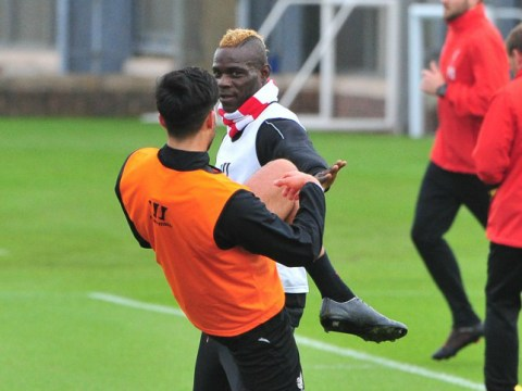 Mario Balotelli decided to play fight Emre Can after getting bored at Liverpool training