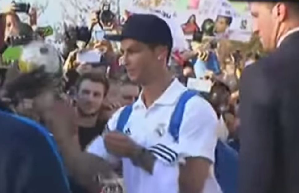 Cristiano Ronaldo reduces crowds of girls to tears after Real Madrid match