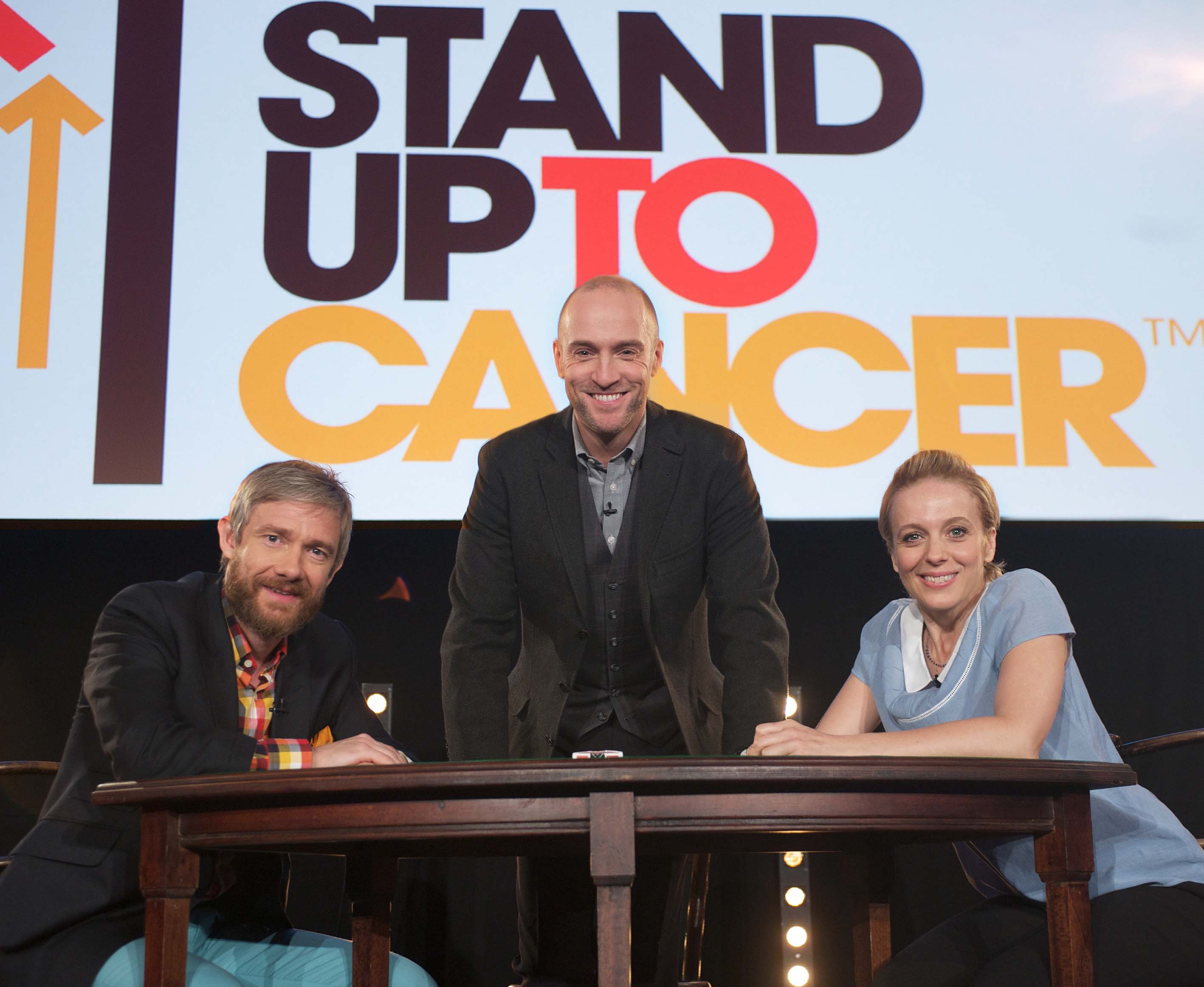 Stand Up To Cancer: Derren Brown freaks out Martin Freeman with mind reading trick